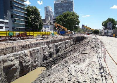 """inspección de obra del tramo B del """"Paseo del Bajo"""""""