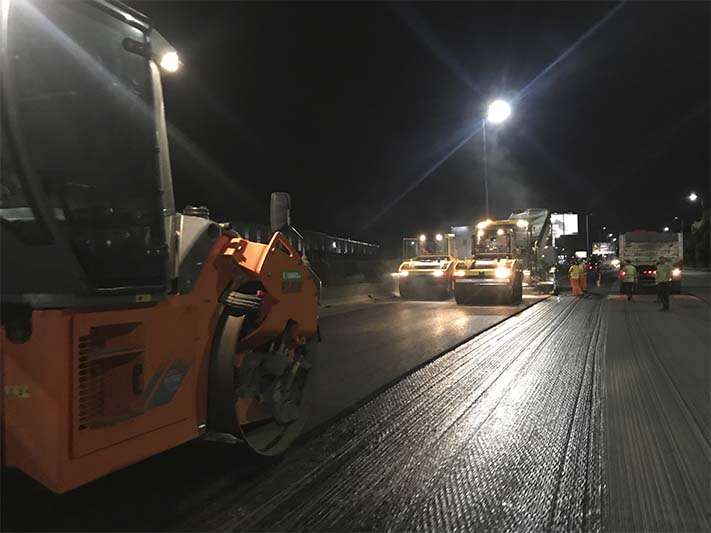 RESURFACING WORKS AT THE ILLIA AND LUGONES HIGHWAYS UNDER THE SUPERVISION OF AC&A